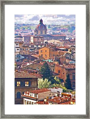 Florence Rooftops Framed Print by Pamela Kelly Phillips