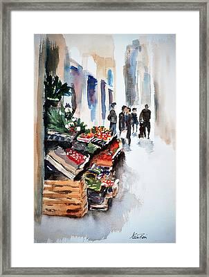 Florence Street Market Framed Print by Neva Rossi