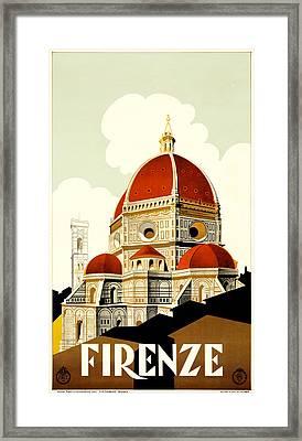 Florence Travel Poster Framed Print