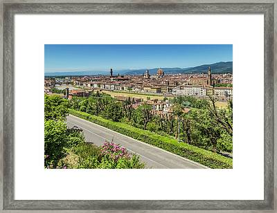 Florence View From Piazzale Michelangelo Framed Print