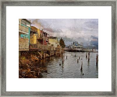 Scene On The Siuslaw  Framed Print
