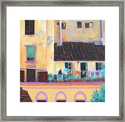 Florence Windows Framed Print