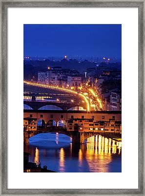 Florentine Strands Framed Print by Andrew Soundarajan