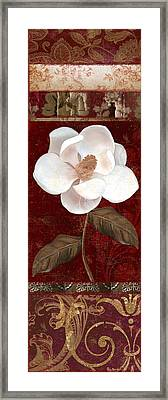 Flores Blancas Rectangle I Framed Print by Mindy Sommers