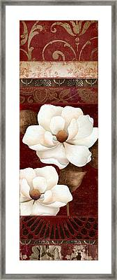 Flores Blancas Rectangle II Framed Print by Mindy Sommers
