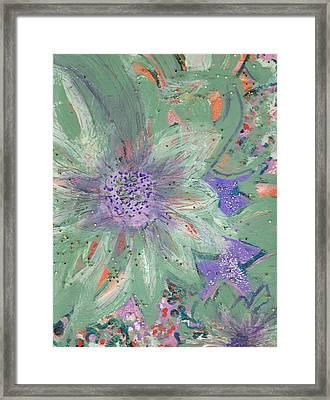 Flores De Amor Framed Print by Anne-Elizabeth Whiteway