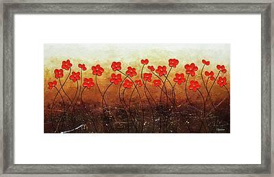 Flores De Mi Jardin Framed Print