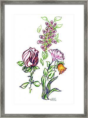 Florets Framed Print by Judith Herbert