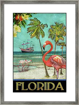 Framed Print featuring the photograph Florida Advertisement by Hanny Heim
