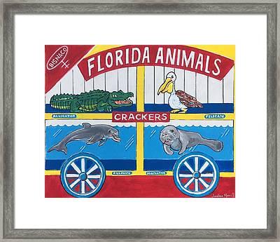 Florida Animal Crackers Framed Print