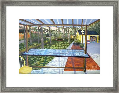Florida Backyard Framed Print by Blaine Filthaut