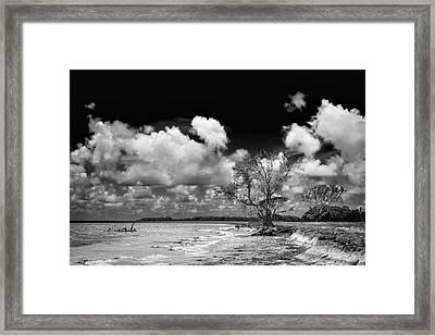 Florida Bay 6947bw Framed Print
