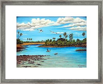 Florida Bayou Framed Print by Riley Geddings