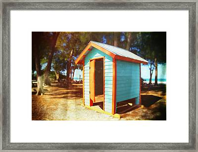 Dressing Room On The Beach In Florida Framed Print by Skip Nall