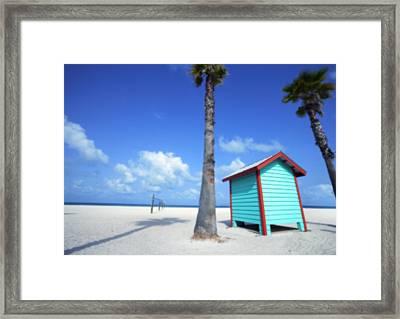 Florida Beach Dressing Room Framed Print by Skip Nall