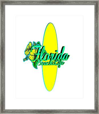 Florida Beach Life Framed Print