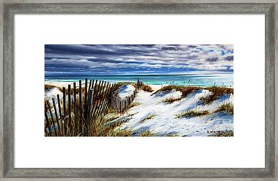 Florida Beach Framed Print by Rick McKinney