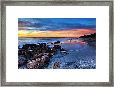 Florida Beach Sunset 3 Framed Print