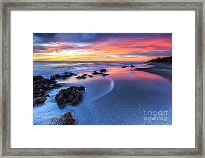 Florida Beach Sunset 4 Framed Print