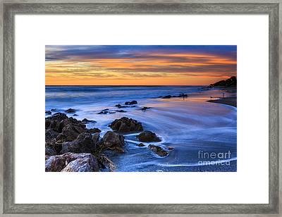 Florida Beach Sunset Framed Print