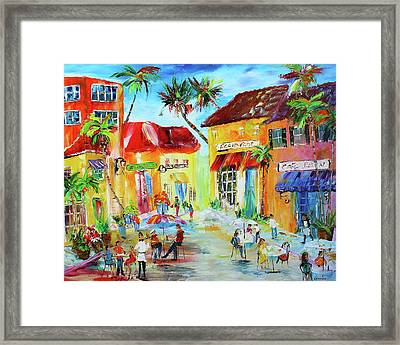 Florida Cafe Framed Print