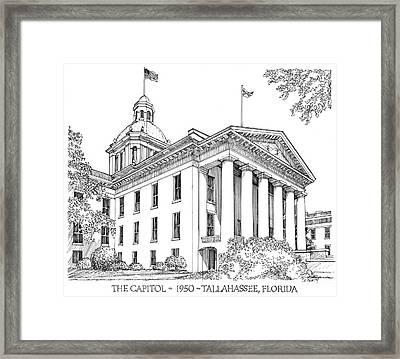Florida Capitol 1950 Framed Print