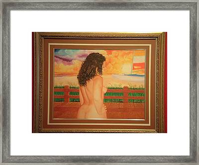 Florida Dreams Framed Print by Benito Alonso