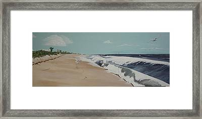 Framed Print featuring the painting Florida East Coast by Hilda and Jose Garrancho