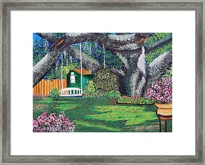 Florida Garden Framed Print