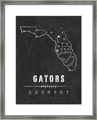 Florida Gators / Ncaa College Football Art / Gainesville Framed Print by Damon Gray