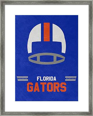 Florida Gators Vintage Football Art Framed Print by Joe Hamilton