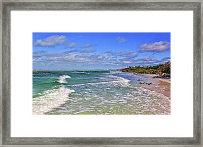 Florida Gulf Coast Beaches Framed Print by HH Photography of Florida