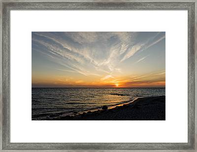 Florida Gulf Coast Caspersen Beach Sunset   -   5 Framed Print