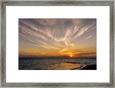 Florida Gulf Coast Sunset  -  Flgulfcoastsunset167514 Framed Print