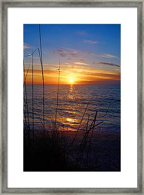 Florida Gulf Coast Sunset Framed Print