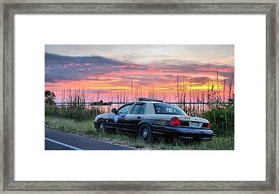 Florida Highway Patrol Framed Print