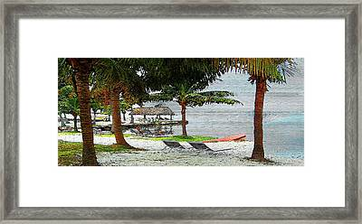 Florida Keys Beach On Wood Framed Print