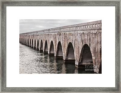 Florida Keys East Coast Railway Framed Print