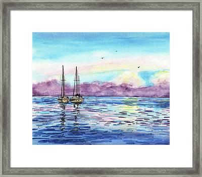 Florida Keys Islamorada Shore Framed Print