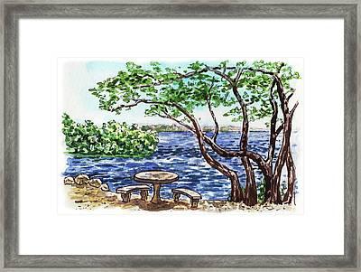 Florida Keys John Pennekamp Park Shore Framed Print