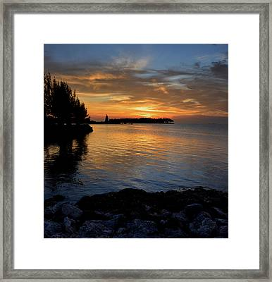 Framed Print featuring the photograph Florida Keys Sunset by Stephen  Vecchiotti