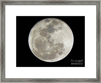 Florida Moon 2-28-2011 Framed Print by Jack Norton