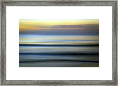 Florida Ocean Wave Abstract Framed Print
