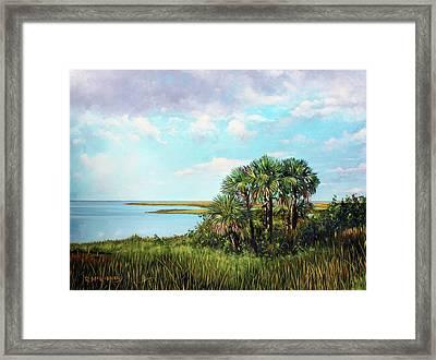 Florida Palms Framed Print