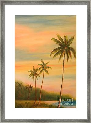 Florida Palms Trees Framed Print by Gabriela Valencia