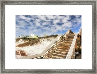 Framed Print featuring the photograph Florida Panhandle Sand Dunes by Mel Steinhauer