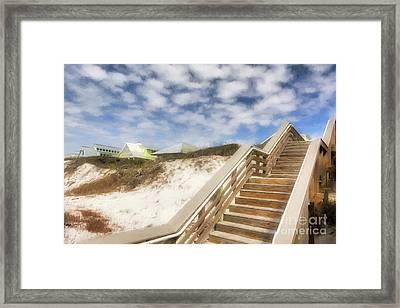 Florida Panhandle Sand Dunes Framed Print by Mel Steinhauer