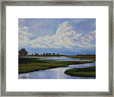 Framed Print featuring the painting Florida by Rick McKinney
