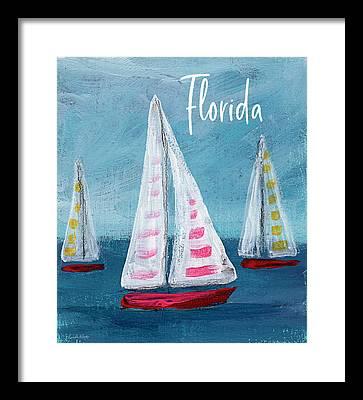 Boat House Mixed Media Framed Prints