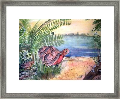 Florida Seacoast Framed Print by Audrey Bunchkowski